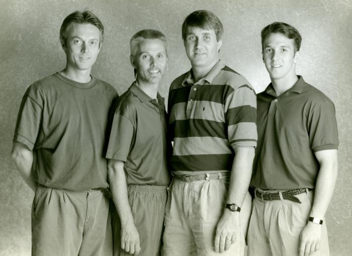 Steve, Stan, David, and Greg Adams, August 1995